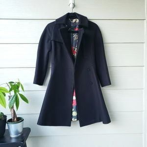Ted Baker black winter coat size 0